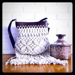 Macrame Shoulder Bag Handbag Purse UNUSED